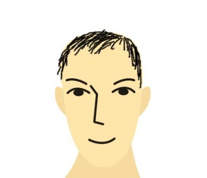 はげを隠そうと髪を伸ばしている人